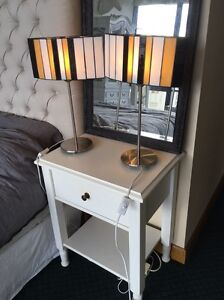 2 X STAINED GLASS SIDE TABLE LAMPS FRENCH STYLE South Brisbane Brisbane South West Preview