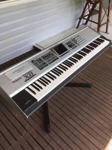 Roland Fantom X8 88 Key Sampling Workstation Keyboard+Stand&Pedal Springwood Blue Mountains Preview