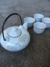 Chinese tea pot and four cups and vintage cake stand $15 Watermans Bay Stirling Area Preview