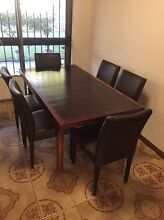 Extendable Wood Dining Table & 6 Chairs Northbridge Willoughby Area Preview