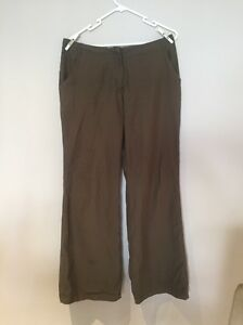 Soft feel olive green baggy pants size 12 Kellyville Ridge Blacktown Area Preview