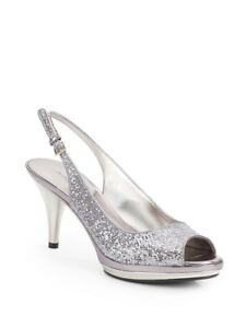 Silver shoes size 7