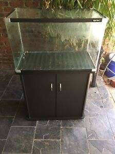 Aqua one fish tank and stand 135ltr Athelstone Campbelltown Area Preview