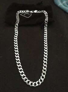 Solid sterling silver men's chain Ashby Wanneroo Area Preview