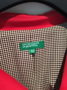 Size 8 fitting Benetton little red short trench $30 Meadowbank Ryde Area Preview