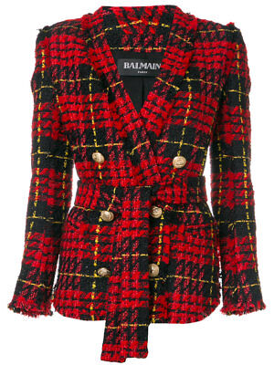 BALMAIN Checked Tweed Blazer
