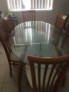 Dining table six seater Casula Liverpool Area Preview