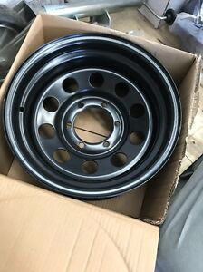 "4x4 spare steel wheel 15"" x8 Nissan patrol Toyota Land Cruiser North Geelong Geelong City Preview"