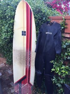 "CORY mini Mal surfboard 7""6 with wetsuit Redfern Inner Sydney Preview"
