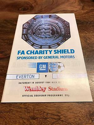 EVERTON V LIVERPOOL1984 FA CHARITY SHIELD PROGRAMME MINT FREE POST LOOK