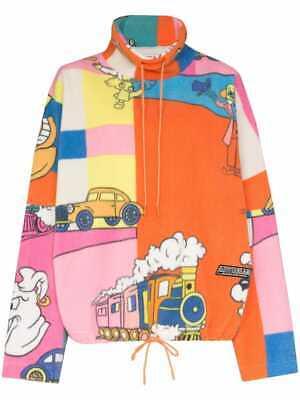 Martine Rose Cartoon Print Fleece Pullover Large