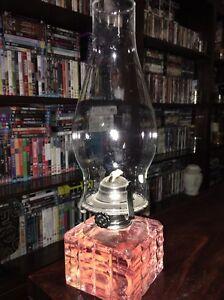 Lamplight Farms oil lamp Austrian glass base Cedar Vale Logan Area Preview