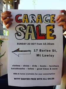 Amazing Garage Sale Today in Mount Lawley! Mount Lawley Stirling Area Preview