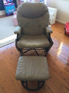 Valco Seville Baby Nursing and Relaxing Glider Chair & Ottoman - Sand Five Dock Canada Bay Area Preview