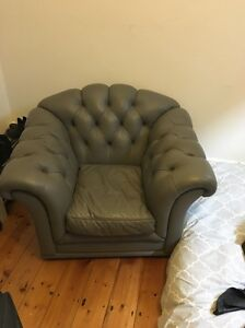 FREE Genuine Moran Leather armchair Clifton Hill Yarra Area Preview
