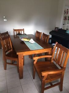 Recycled timber dining set Revesby Bankstown Area Preview