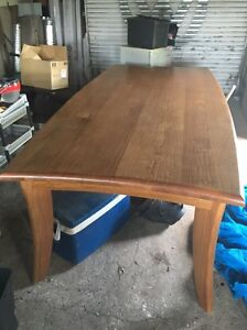 Beautiful big solid timber dinning table and chairs Muswellbrook Muswellbrook Area Preview