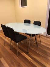 Glass dining table + 4 chairs Elwood Port Phillip Preview