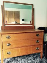 Beautiful refurbished chest of drawers with mirror Tempe Marrickville Area Preview
