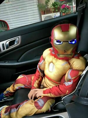 Deluxe Suit Iron Man Avengers Kids Jumpsuit Superhero Muscle Costume Outfit -