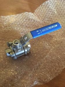 "AUSTEX TECH FLOW 3Piece 1/2"" Stainless Ball Valve Tap Cambrai Mid Murray Preview"