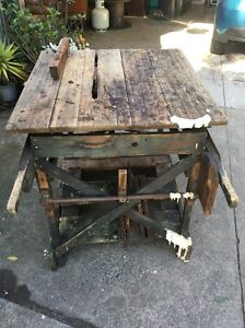Saw bench mill antique industrial Bayswater Knox Area Preview