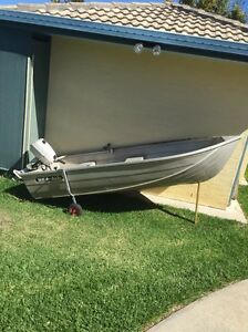 """10"""" car topper tinny with 4hp motor Morayfield Caboolture Area Preview"""