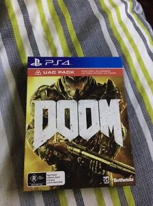 DOOM PS4 - UAC PACK *AS NEW* Leabrook Burnside Area Preview