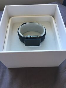 Apple Watch 38mm black stainless steel Edgeworth Lake Macquarie Area Preview