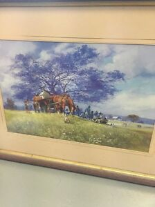 Darcy Doyle print framed at Clayfield Gallery 1980s? Bardon Brisbane North West Preview