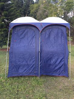 Oztrail ensuite double shower and toilet tent. & An Oztrail Slimline Portable Camping Toilet | Camping u0026 Hiking ...