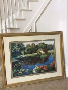 Framed Large Painting