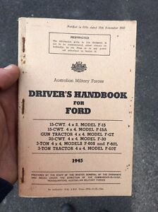 Ford blitz truck drivers handbook Wilberforce Hawkesbury Area Preview