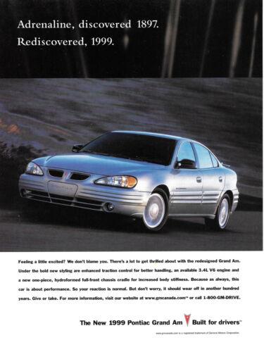 1999 Pontiac Grand Am Magazine Print Ad