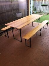 Folding outdoor table and bench seats Mount Annan Camden Area Preview