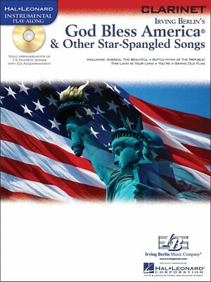 GOD BLESS AMERICA & OTHER STAR-SPANGLED SONGS PLAY-ALONG CLARINET MUSIC BOOK/CD