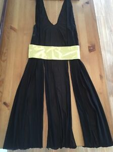 Black gown/throw over with gold belt St Marys Penrith Area Preview