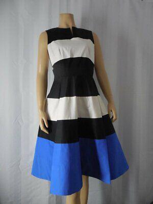KATE SPADE NY Dress size 6 blue black white color block Fit & Flare