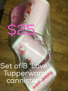 Tupperware Love cannisters Gosnells Gosnells Area Preview