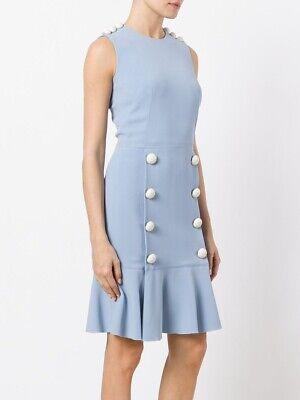 NWT 1995$ Dolce&Gabbana Button Trim Flounce Dress Size 42 US 6 Receipt