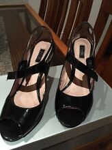 RMK Black Patent Peep-toe Heels - Size 7 1/2 Kelvin Grove Brisbane North West Preview
