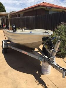 3.6m tinny on Mackay trailer with 9.9hp Mercury Portarlington Outer Geelong Preview