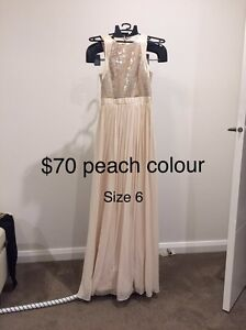 Peach evening dress Mitcham Whitehorse Area Preview