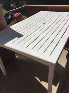 Outdoor table white Hornsby Heights Hornsby Area Preview