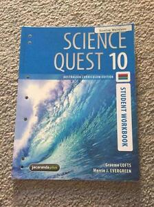 Science Quest 10 - Student Workbook Everton Hills Brisbane North West Preview