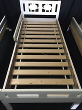 WHITE WOODEN CHILDREN'S BED w Safety Rail -  AS NEW!!! Hamersley Stirling Area Preview
