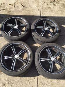 Black 18 inch Speedy rims and tyres Bentleigh Glen Eira Area Preview