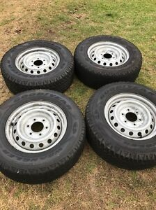 4x wheel and tyres 16x7, ranger may fit navara hilux trailer Hornsby Heights Hornsby Area Preview