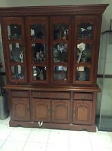 Antique dining table 8 seater and wall display cabinet Balcatta Stirling Area Preview