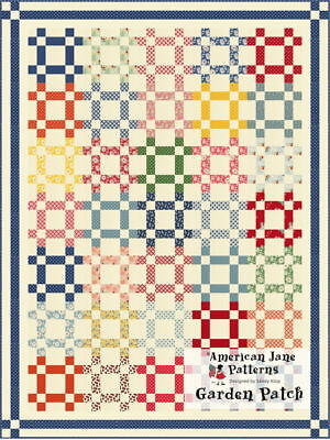 - Quilt Pattern GARDEN PATCH Moda AMERICAN JANE Jelly Roll Friendly 30's Reproduct